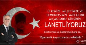 Başkan Görgülüoğlu'ndan 15 Temmuz Mesajı !